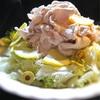 エンダイブと豚しゃぶ、レモンのさっぱりの満足サラダ