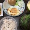 蒸し野菜と目玉焼き