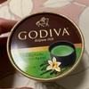 GODIVA:宇治抹茶とバニラにチョコレートソースを添えて/蜂蜜アーモンドとチョコレートソース/チョコレートアイスバーカプチーノ