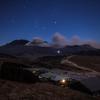 【天体撮影記 第117夜】 熊本県 草千里展望所から阿蘇の噴煙と冬の星空