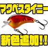 【シマノ】小型クランクベイト「マクベスタイニー」に新色追加!