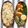 20190710パンガシウスのチーズパン粉焼き弁当&多肉の寄せ植え