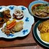幸運な病のレシピ( 2344 )夜:鳥と豚バラのレモンソテー、カボチャの炒めに、イカボイル、汁