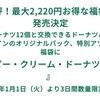 2019年 福袋ネタバレ クリスピークリームドーナツ 中身紹介