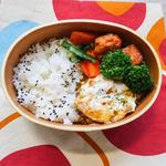 レンジで作れる小松菜とニンジンのおひたしのお弁当