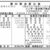 フェザー安全剃刀株式会社 第92期決算公告