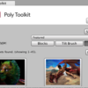Poly toolkit for unity使った。