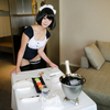 メイド水着コスプレ:せなさん Lovely Maid-Cosplay Photos