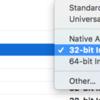 macOS10.12 x Objective-C x 32bit(i386)でビルドエラー