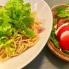 『わさび菜 de サッパリ和風パスタ』と『パナゲ流カプレーゼ』【パナゲcooking.2】