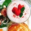 イチゴとクリームチーズのデザートスープ