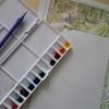完成】『カジノ・ド・モンテカルロコンサート』のポスター塗り過程(メイキング)です☆ミュシャぬりえファンタジーより