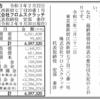 株式会社フロムスクラッチ 第11期決算公告 / 減少公告