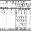 ヒゲタ醤油株式会社 第126期決算公告