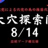 大穴探索隊8/14(土)