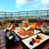 お部屋から港が見える。エメラルドグリーンの海を見ながら朝食を。ホテルイーストチャイナシー(1)