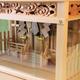 注連縄・雲彫・柵を加えたガラス箱宮三社神殿