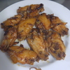 幸運な病のレシピ( 1726 )朝 :干し大根とかぼちゃの煮つけ、手羽先二度揚げ、鮭、ホッケ、シシャモ、味噌汁(切り干し大根)、マユのご飯