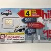 シンガポールで現地SIM購入