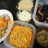 キャベツナムル、牛肉しゃぶしゃぶ、クミン大根、スープ、常備菜
