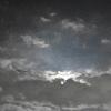 青い夜に煙る空
