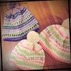 三國さんの「編込みポンポン帽子」 子どもサイズ2パターン