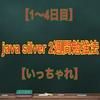 【1~4日目】java silver2週間勉強法【いっちゃれ】