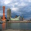 台風21号の被害から約半月経過した神戸ハーバーランドの風景