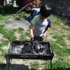 冬の牡蠣焼きモードから、夏のBBQモードへ