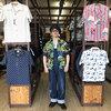 SAMURAI JEANS みどりの日にご紹介する大阪柄ハワイアンシャツは通天閣に大阪城、新緑のイチョウ☆更に虎が映えてます♬
