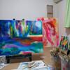 絵画の作品展示。