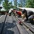 旭川青少年体験活動サポートセンター主催の「美瑛の森の遊び場作り」が開催されました