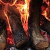 薪火と焼き芋の大きな画像
