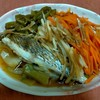 台湾の家庭料理『清蒸魚(チンジャンユー)』風、野菜たっぷり蒸し魚