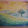 お絵描きな話。 【クレパスで風景画】