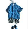 【2021夏リネンシャツコーデ】メンズのリネンシャツをキッズサイズに作り替えました