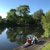 テムズ川沿い夕方のお散歩、ソニングアイへー子供にはこれがやっぱり一番