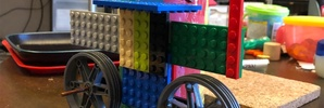 レゴで「自転車だよ〜」
