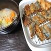 さんまの竜田揚げ、味噌汁