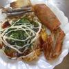 幸運な病のレシピ( 946 )朝:オム野菜炒め(お好み焼き風)、ソイ(バタームニュエル)、鮭、60年後の栄養失調