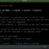 ソースコードのハイライト表示(highlight, zenity, xdpyinfo)