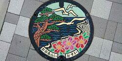 茨城県東茨城郡大洗町のマンホール