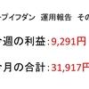 2018年8月第4周目(8/20~8/24)の運用利益報告 第9回【ループイフダン不労所得】