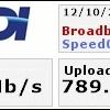インターネット速度測定結果♪(速報値)
