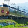 5月5日撮影 磐越西線 喜久田~安子ヶ島間 485系国鉄色 あいづ号