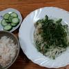 ゴーヤ素麺と麦飯