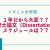 【イギリス大学院】修士論文(Dissertation)提出までのスケジュールと特徴