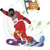 スノーボード ウインタースポーツ イラスト