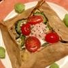 もりもり夏野菜マリネの蕎麦粉ガレット