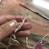 タティングレース、リングの途中で、糸を継ぎ足す